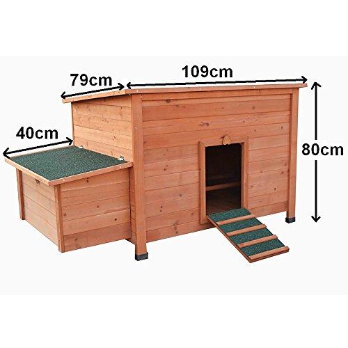 Hühnerstall Hühner Käfig Legenest aus Holz ca. 149 x 80 x 79 (BxHxT) - 6