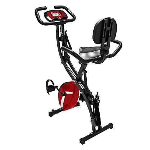 NBRTT Bicicleta estática reclinada, Entrenamiento para Todo el Cuerpo Semi-magnética...