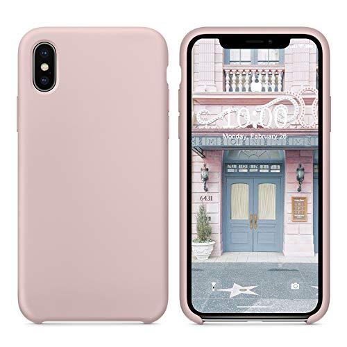Surphy cover iphone x, cover iphone xs silicone, custodia iphone x xs silicone slim cover antiurto con morbida microfibra fodera, protettiva cover case per apple iphonex xs 5.8