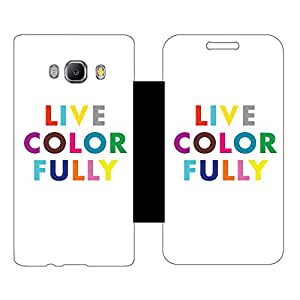 Phone Candy Designer Flip Cover with hi-res printed Vinyl sticker wrap-around for Samsung Galxy J510 (2016)