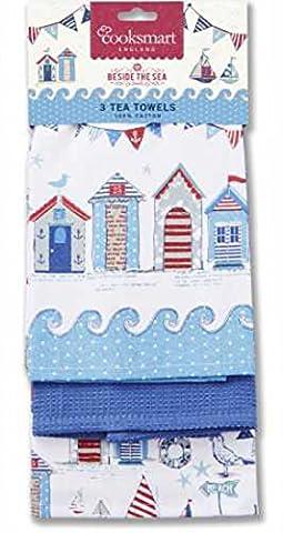 100% coton t-towels Lot de 3par Cooksmart & aimant inspirants
