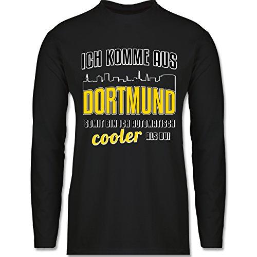 Shirtracer Städte - Ich Komme Aus Dortmund - Herren Langarmshirt Schwarz