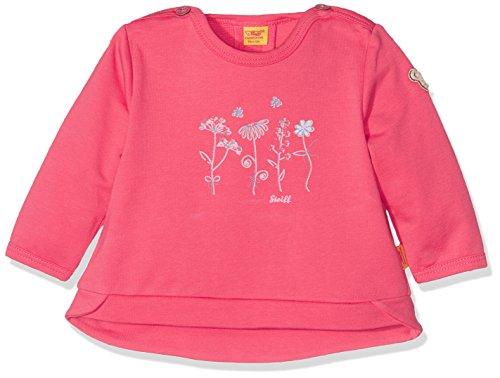 Steiff Baby-Mädchen Sweatshirt 1/1 Arm, Rot (Paradise Pink 2024), 80