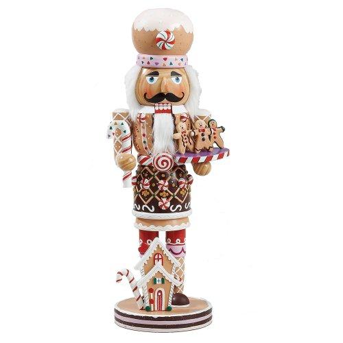 Kurt Adler 16in legno e poliresina Gingerbread Schiaccianoci