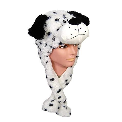 Für Kostüm Dachs Hunde - Karneval Party Plüsch Mütze Dalmatiner
