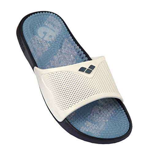 Arena Marco X-Grip Ciabatta Massaggiante, Unisex, Multicolore (Solid Turquoise-White), 42