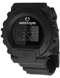 Wize & Ope SKY-2 - Reloj digital de cuarzo unisex, correa de poliuretano color negro