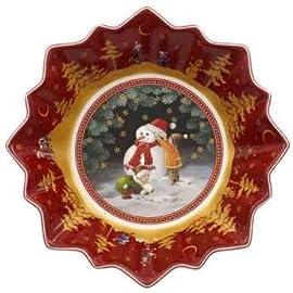 8 x 17 x 17 cm et/à 3+ Mazzeo Portasapone Natalizio Decorativo con Babbo Natale in Ceramica