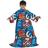 Disney Sleeved Fleece Blanket Kids Boys Girls Snuggle Throw (9 Designs)