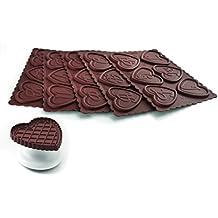 Silkomart 25.167.77.0065 - Kit molde galletas chocolate Silikomart ABC