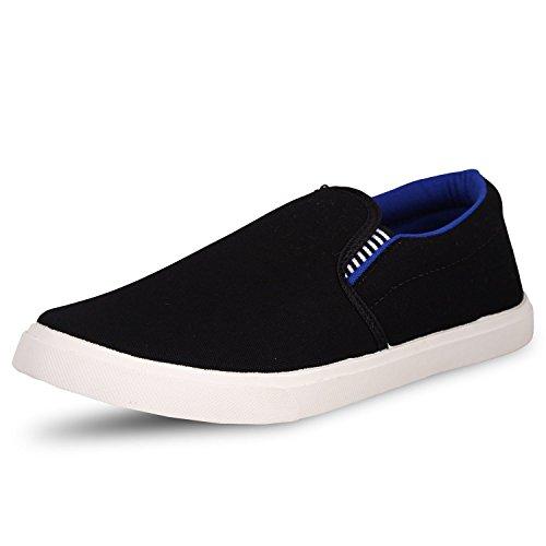 Waterwool Men's Black Blue Canvas Casual Shoes -9
