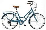 "HelloBikes Modell Retro 26"" Damen City Fahrrad mit Shimano 7-Gang Kettenschaltung"