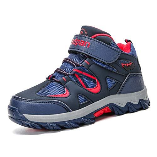 Kinderschuhe Mesh Sportschuhe Ultraleicht Atmungsaktiv Kinder Schuhe Turnschuhe Klettverschluss Low-Top Sneakers Laufen Schuhe Laufschuhe Outdoor Trekking Wanderschuhe für Mädchen Jungen Blau 37