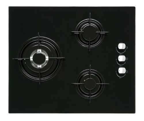 CATA CI 621 A - Placa (Incorporado, Gas, Vidrio, Giratorio, Arriba a la derecha, 6300W) Negro