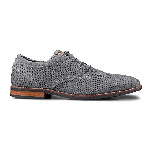 Cox Herren Herren Business-Schnürschuh, Leder Schuhe in Grau im Business-Stil Grau Rauleder 44