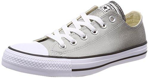 Converse Chuck Taylor CTAS Ox Synthetic, Zapatillas de Deporte Unisex Adulto, Gris (Ash Grey/Black/White 095), 40 EU