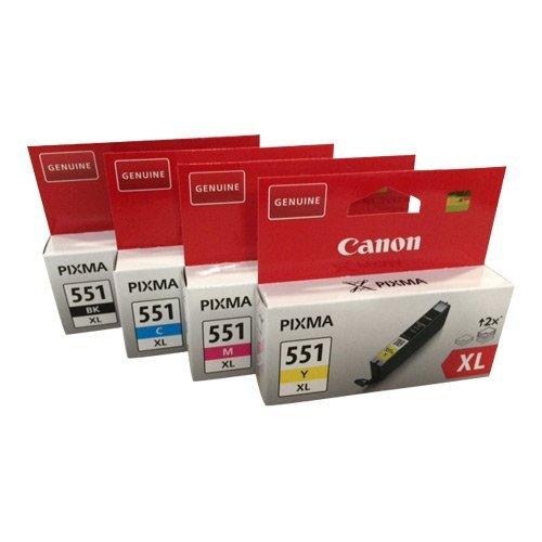 Original Druckerpatronen für Canon PIXMA iP7250/ 8750, iX6850, MG 5450/ 5550/ 5650/ 6350/ 6450/ 6650/ 7150/ 7550, MX725/ 925 (Multi XL (4er))