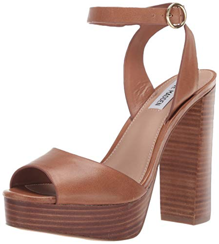 Steve Madden Damen Madeline, Cognac Leather, 36.5 EU Madeline Dress Sandal