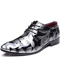Scarpe Oxford in Pelle Verniciata per Uomo Scarpe Eleganti Scarpe da Uomo  da Uomo Scarpe da Sposa da… 5a88aa95185