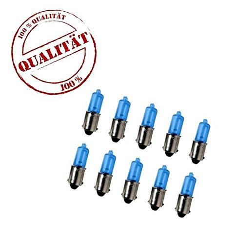 10x H6W 12V 6W bax9s BLUE VISION Glas Lampen Standlicht Positionslicht