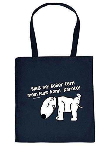 Tragetasche <-> Mein Hund kann Karate! <-> Goodman Design Navy-Blau