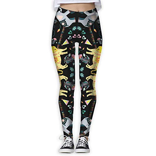 ANTOUZHE Sport Damen Leggings Circo Floral Women Power Flex Yoga Pants Workout Running Leggings for Women Tummy Control -
