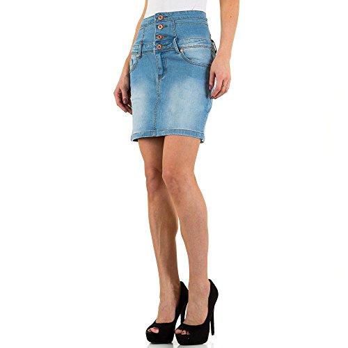 Used Look Jeans Rock Für Damen bei Ital-Design Blau