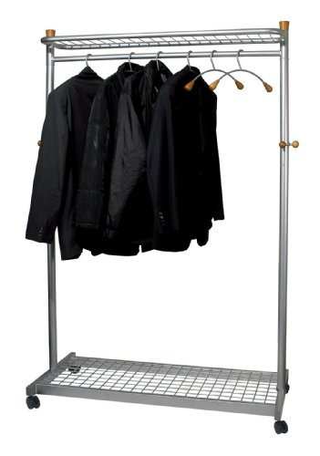 Cheapest Price for Alba Coat and Garment Rack Mobile Lockable Castors Capacity 40-50 Hangers W1140xD550xH1800mm Ref PMLUX6 Online