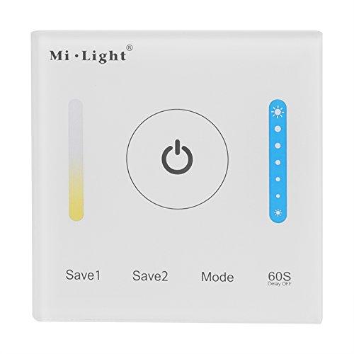 Mi-Light Wand Touch Panel LED Controller für Temp CCT Doppel Farbwechsel LED Lichtleisten Leuchten Dimmer DC 12-24V