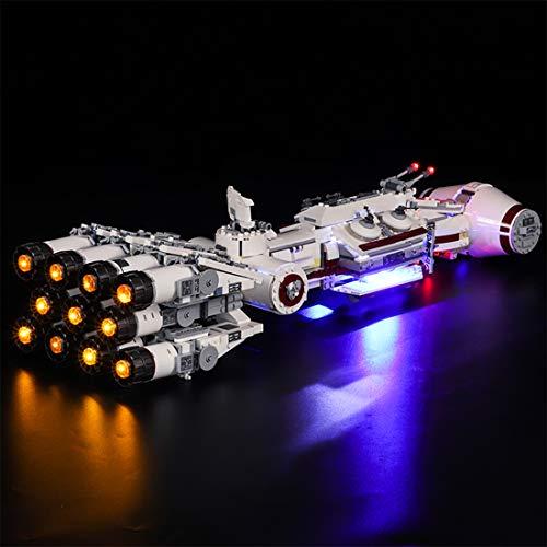 YxFlower LED Licht Set Für Lego Bausteine Modellbau Spielzeug,Led Licht Beleuchtung Kit für Lego 75244 Tantive iv (Modell Nicht Enthalten) -