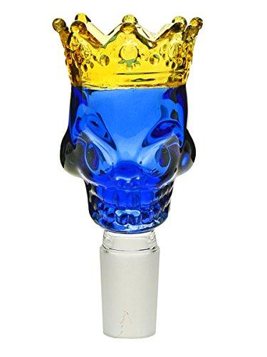 Skull King Bong-Totenkopf blau/gold 18,8 mm - head&nature Bong-Kollektion