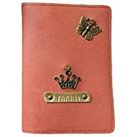 I Love Fashion Peach Pink colour Personalised Passport cover
