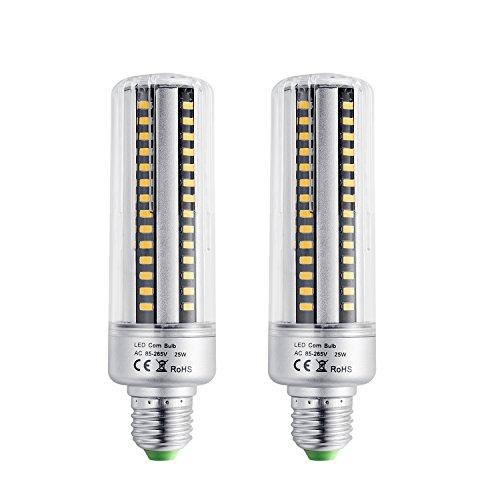 Bogao E26/E2790LED 5736SMD 25W LED di mais, sostituisce lampadine a incandescenza, a risparmio energetico casa delle lampadine con copertura 2000lumen, AC220V, no-dimmable (2pz, bianco caldo), Warm White, E27, 25.00 wattsW 220.00 voltsV