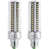 Bogao E26/E27 90 LED 5736 SMD 25 W LED, sostituisce lampadine a incandescenza, lampadine a risparmio energetico con copertura 2000 lumen, AC220 V, no-dimmable (2 pz, bianco caldo), Warm White, E27, 25.00 wattsW 220.00 voltsV
