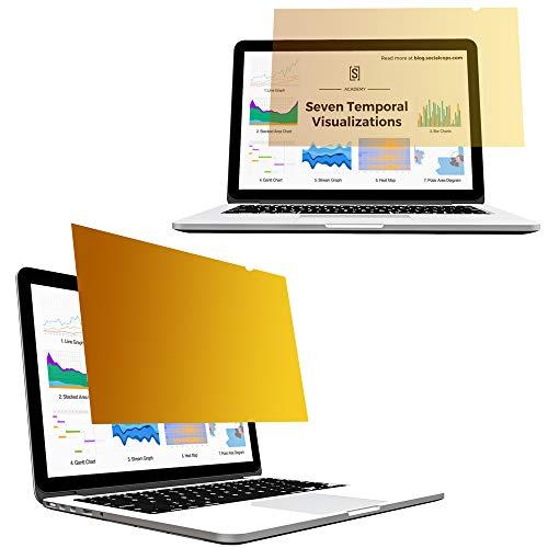 Yoght Gold Sichtschutz Folie - Blickschutzfilter schnelle Befestigung und wiederverwendbar für MacBook Pro 15 Zoll 2016/2017/2018 Ausführung: A1707/A1990 Modell (Für Pro Macbook - Haut-abdeckung 15)