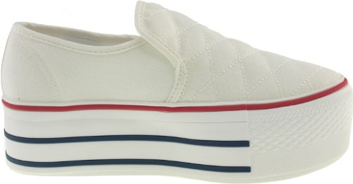 Maxstar  C50-Stitch,  Damen Sneaker Low-Tops Weiß