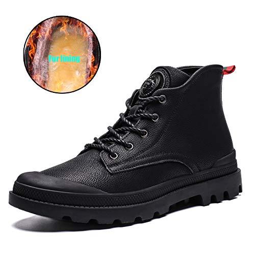 Shoe House Männer Knöchelstiefel Pelz Futter Rutschfeste Sicherheit Stiefel Winter Warme Arbeitsschuhe Größe 5-9,EU41/US8(M)/UK7