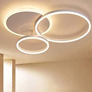 LED Deckenleuchte Moderne Dimmbare Wohnzimmerlampe Ring Designer Deckenlampe Mit Fernbedienung Mode Deckenlampe Minimalistisches Metall Acryl Beleuchtung Schlafzimmer Küche Esszimmer Lichter