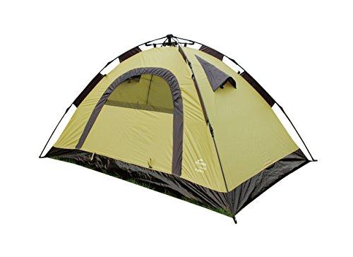 EXPLORER Flash 2 Automatikzelt ** in Sekunden aufgebaut - Schirm Prinzip! ** integriertes Gestänge 210x140x105cm 2 Personen 1500mm Wassersäule einwandiges Zelt Schirm Camping Outdoor Wandern Familie (Explorer Zelt 2)