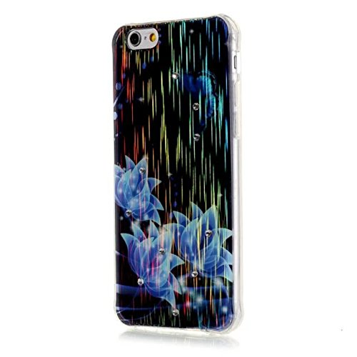 "Sunroyal iPhone 6 Plus 6S Plus 5.5"" Transparent Laser TPU Handyhülle Schutzhülle Durchsichtig TPU Crystal Clear Klar Case Cover Backcover Bumper Slimcase - Baum Life of Tree Muster Pattern Pattern 02"