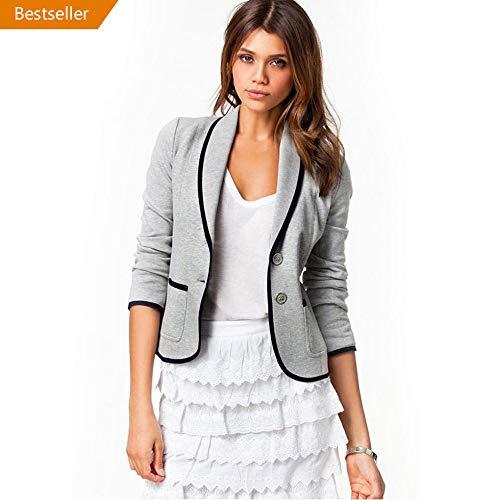 VECDY Damen Jacken,Räumungsverkauf- FrauBusiness Mantel Blazer Anzug Langarmshirts Slim Jacket Outwear Größe S-6XL Lässige warme Jacke