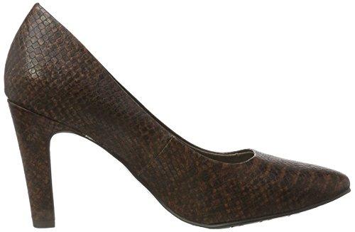 Tamaris 22470, Scarpe con Tacco Donna Marrone (Cognac Snake)