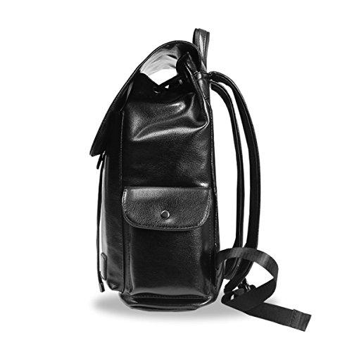 LAIDAYE Business Casual Mode Herren-Reisetasche Schultertasche Rucksack Reisetasche Black
