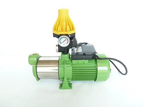 Druck-ventil Kessel (Kreiselpumpe Jetpumpe Gartenpumpe INOX HMC145-4SH, Leistung 1100Watt, Spannung 230V/50Hz, Förderleistun 8700 l/h, 5,5 bar robuste und rostfreie Edelstahlwelle + integrierter thermischer Schutzschalter + Pumpensteuerung EPC-3 zur Automatisierung der Wasserversorgung mit Trockenlaufschutz und eingebautem Rückschlagventil.)