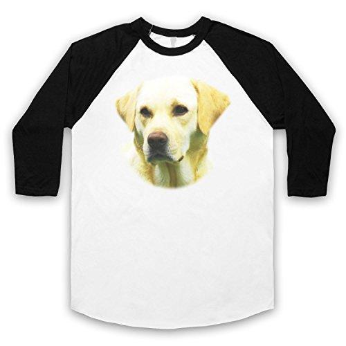 Inspiriert durch Hangover 2 Labrador Unofficial 3/4 Hulse Retro Baseball T-Shirt Weis & Schwarz