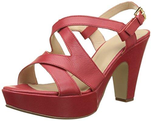 V 1969 DamenMarcelle Riemen-Sandalen mit hohem Absatz Rot