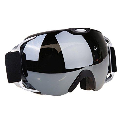 VilisunSchneebrille/Skibrille/Brille für Snowboard/Schneemobil, für Männer & Frauen, Anti-Rutsch, verstellbares elastisches Kopfband, vollständige Revo-Beschichtung, 100% UV400-Sch... (Amp Snowboard)