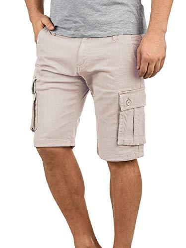 Yidarton Bermudas Hommes Ete Outdoor Cotton Casual Short Cargo Couleur Unie Lâche Pantalon Cou