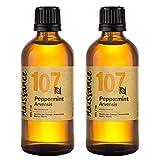 Naissance Aceite Esencial de Menta n. º 107 - 200ml (2x100ml) - 100% puro, vegano y no OGM.