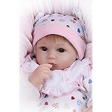 """17""""silicona Reborn bebé muñeca hecha a mano suéteres realista muñeca de recién nacido, bebé juguetes"""